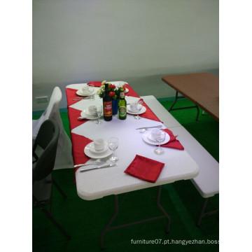 Rattan Pattern 6FT mesa dobrável mesa ao ar livre