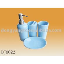 Juego de baño de cerámica de 4 piezas con diseño impreso
