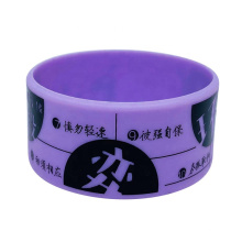 Wholesale Custom Rubber Hand Band printing Silicone Bracelet