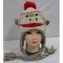 Sombrero del casquillo invierno moda personalizada niños punto diseño animal