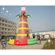 2014 durable inflatable climbing wall for sale