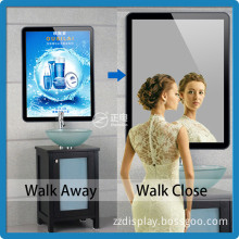Indoor best selling ABS rounded corner 3528 magic mirror tablet acrylic super slim advertise sign light box backlit film                                                                         Quality Choice