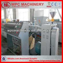 Machine à extrusion granulée pvc à une seule vis / ligne de production de bois lesco