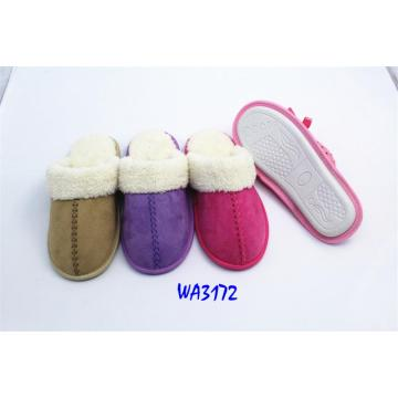 women's Fashion Winter Microfiber Binding Indoor Slippers Velvet Collar