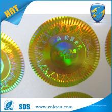 Autocollant anti-contrefaçon de haute qualité anti-contrefaçon de papier hologramme