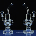 Slitted Showerhead Straight Glass Pipe for Smoke with Perc (ES-GB-046)