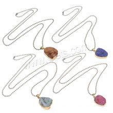 2015 Gets.com Druzy Pendant Wholesale Amethyst Natural Druzy Necklace with ball chain