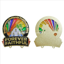 Low Cost Hollow out Offset Print Lapel Pin with Transparent Color (badge-045)