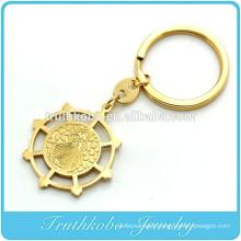 TKB-K0002 Gold Tone Saint Benedict Exorcism Medal Key Ring