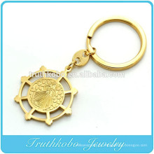 TKB-K0002 Ouro Tom Saint Benedict Exorcism Medalha Anel Chave
