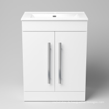 Eleganter weißer Bad-Waschtischunterschrank aus massivem Holz