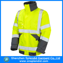 Garment Factory Wholesale 100% Cotton High Visibility Jacket Safety Clothes