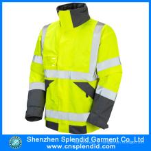Garment Factory Atacado 100% algodão de alta visibilidade jaqueta roupas de segurança