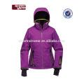 Chaqueta impermeable de encargo del esquí de la chaqueta del esquí del poliéster del OEM Mujeres