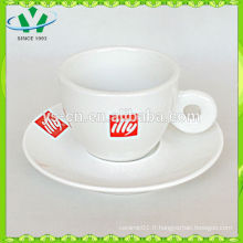 Factory Direct Extra White Ceramic Cup And Saucer