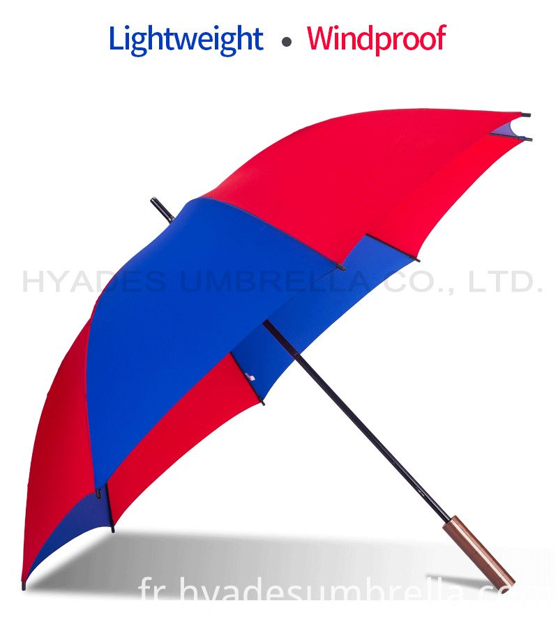 Lightweight Red And Navy Manual Open Straight Umbrella