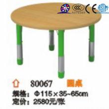 2016 Mesa redonda ajustável de madeira para crianças