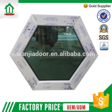 pvc fixed panel with tempered glass window pvc fixed panel with tempered glass window