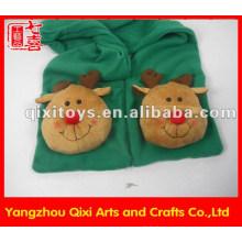 Châle de mode en peluche animal orignal gants de tête écharpe écharpe d'hiver