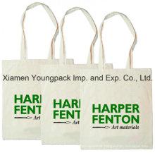 Promocionais 100% Natural Algodão Calico Canvas Shoulder Bag