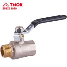 TMOK Válvula de bola forjada Válvula de bola de latón de 90 grados en alta calidad