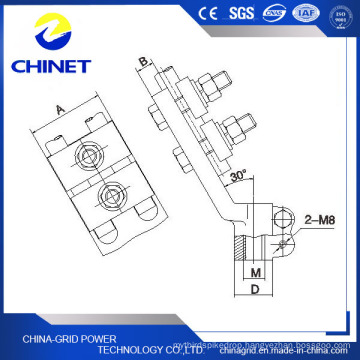 Sbj-S Type Double Conductor Copper Hole Pole Clamp