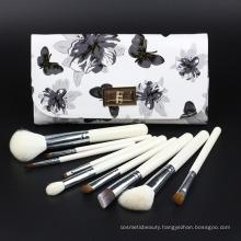 Natural Hair Wood Handle with PU Bag Cosmetic Brush Makeup Brushes