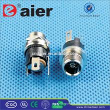 Daier черный металл 2.1 мм/2.5 мм Скругление постоянного тока-025M1 Разъем питания постоянного тока Разъем/Разъем питания постоянного тока/вилки