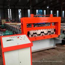Fertigen Sie Preise der hohen Geschwindigkeit kaltes Metalllagerplattenblech Aluminium Aluminium Zink Boden Decking Roll Formmaschine automatisch an