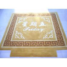 Handgefertigte Wolle Blumenteppich Flooring Mat Teppich Teppich