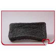 Éponge de nettoyage de visage noire de bambou d'éponge de konjac 100% naturelle la plus chaude