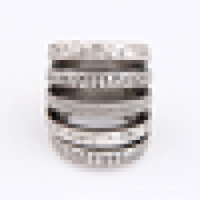 Simples design anel de liga de aço inoxidável para homens e mulheres