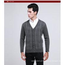 Iaque Lã / Caxemira V Pescoço Pulôver Suéter / Vestuário / Vestuário / Malhas
