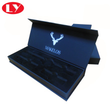 Magnet Close Luxury Black Watch Box dengan Logo