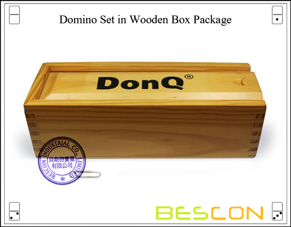 Domino Set in Wooden Box Package
