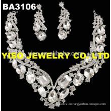 Große quadratische klare glaskristall halsketten