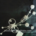 Fashion ladies sliver plated metal hair accessories crystal bridal hair comb