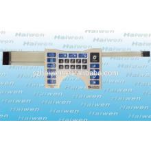 Cúpula de metal con relieve en relieve de poliéster Equipo Médico Interruptor de Membrana