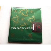 Tejido africano de la cabeza del lazo suizo de la corbata principal tela africana de la moda