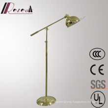 Satin Eurpean Metal Adjustable Floor Lamp for Hotel Project