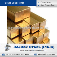 Wholesale Supplier of Corrosion Resistant Brass Square Bar at Reliable Market Rate