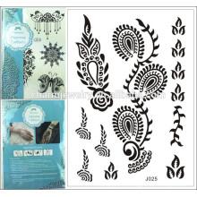 Muitas folhas tatuagem temporária tatuagem laço venda quente j025