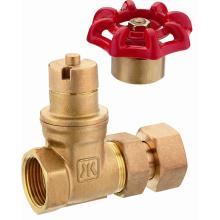 J114 válvula de compuerta magnética de cobre amarillo antes del contador de agua