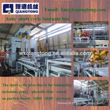 1600Ton-6x8 Placa de móveis de máquinas de imprensa / Linha de produção de painéis laminados