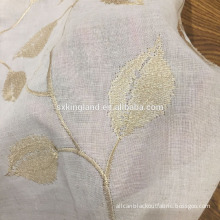Linen look curtain fabric