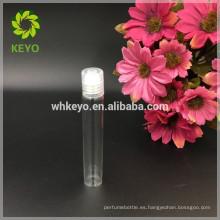 Rollo transparente 5ml 8ml 10ml 12ml en botella plástica del embalaje del casquillo plástico de la botella de cristal