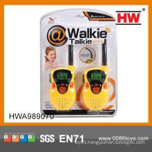 2015 good quality kids plastic cheap walkie talkie