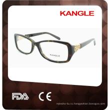 2017 новые очки оптические рама с металлической отделкой