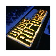 Custom metal storefront business signs letter backlit sign board  led letters