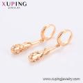 96579 Boucles d'oreilles pendantes en or 18 carats pour femmes avec design spécial mode xuping